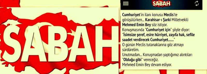 Yaşasın Cumhuriyet fikir babası Şebinkarahisar milletvekili...