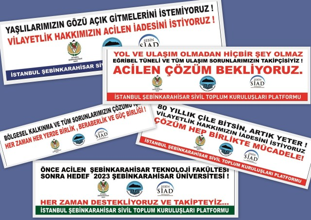 Sivil Toplum kuruluşlarının Pankartları öksüz kaldı