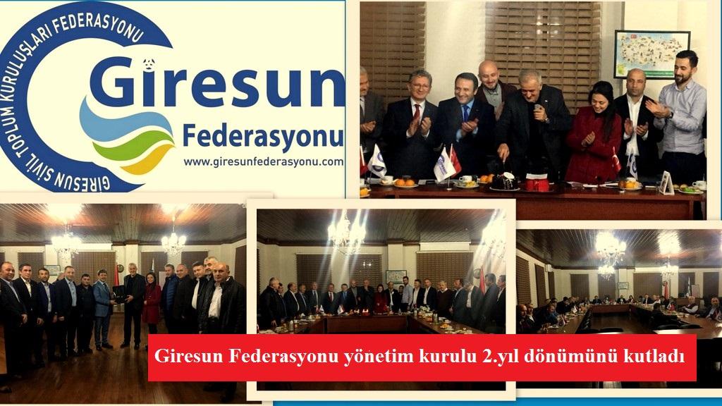 Giresun Federasyonu yönetim kurulu 2.yıl dönümünü kutladı