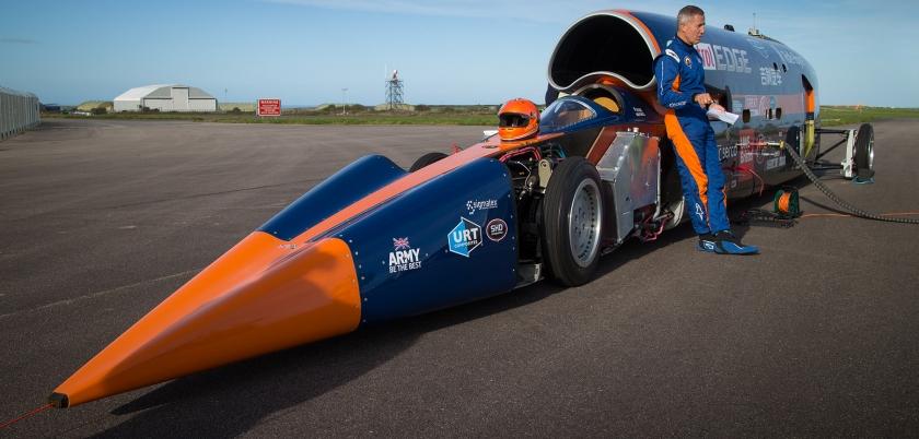 Sesten hızlı otomobil 1.606 km. ile hız denemesinde