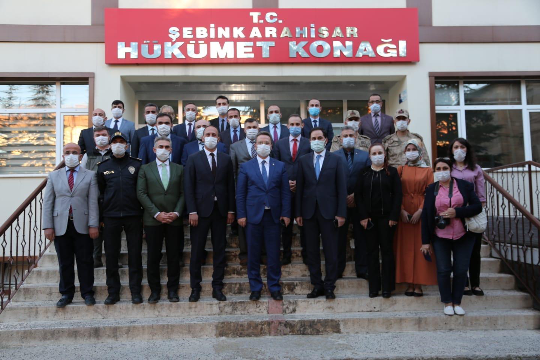 Giresun Valisi Enver Ünlü Şebinkarahisarı ziyaret etti