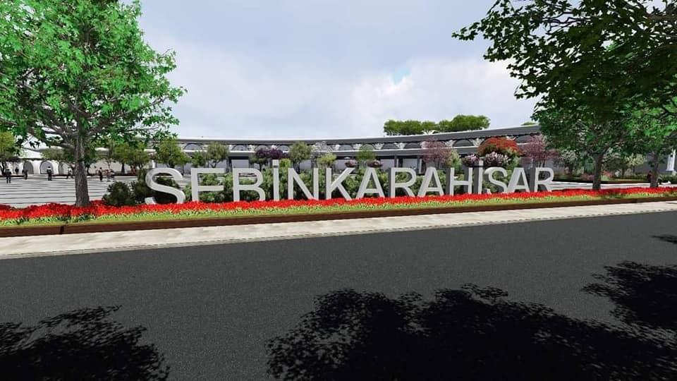 'Şebinkarahisar'' tabelası ve